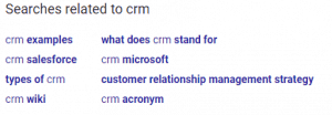 google suggested keyword crm